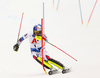Alexis Pinturault of France skiing in the second run of men slalom race of the Audi FIS Alpine skiing World cup Kitzbuehel, Austria. Men slalom Hahnenkamm race of the Audi FIS Alpine skiing World cup season 2018-2019 was held Kitzbuehel, Austria, on Saturday, 26th of January 2019.