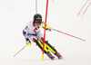 Winner Clement Noel of France skiing in the second run of men slalom race of the Audi FIS Alpine skiing World cup Kitzbuehel, Austria. Men slalom Hahnenkamm race of the Audi FIS Alpine skiing World cup season 2018-2019 was held Kitzbuehel, Austria, on Saturday, 26th of January 2019.