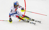 Alexis Pinturault of France skiing during first run of men slalom race of the Audi FIS Alpine skiing World cup Kitzbuehel, Austria. Men slalom Hahnenkamm race of the Audi FIS Alpine skiing World cup season 2018-2019 was held Kitzbuehel, Austria, on Saturday, 26th of January 2019.