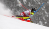 Manuel Feller of Austria skiing during first run of men slalom race of the Audi FIS Alpine skiing World cup Kitzbuehel, Austria. Men slalom Hahnenkamm race of the Audi FIS Alpine skiing World cup season 2018-2019 was held Kitzbuehel, Austria, on Saturday, 26th of January 2019.