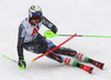 Henrik Kristoffersen of Norway skiing during first run of men slalom race of the Audi FIS Alpine skiing World cup Kitzbuehel, Austria. Men slalom Hahnenkamm race of the Audi FIS Alpine skiing World cup season 2018-2019 was held Kitzbuehel, Austria, on Saturday, 26th of January 2019.