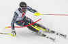 Andre Myhrer of Sweden skiing during first run of men slalom race of the Audi FIS Alpine skiing World cup Kitzbuehel, Austria. Men slalom Hahnenkamm race of the Audi FIS Alpine skiing World cup season 2018-2019 was held Kitzbuehel, Austria, on Saturday, 26th of January 2019.