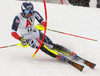 Dave Ryding of Great Britain skiing during first run of men slalom race of the Audi FIS Alpine skiing World cup Kitzbuehel, Austria. Men slalom Hahnenkamm race of the Audi FIS Alpine skiing World cup season 2018-2019 was held Kitzbuehel, Austria, on Saturday, 26th of January 2019.