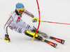 Felix Neureuther of Germany skiing during first run of men slalom race of the Audi FIS Alpine skiing World cup Kitzbuehel, Austria. Men slalom Hahnenkamm race of the Audi FIS Alpine skiing World cup season 2018-2019 was held Kitzbuehel, Austria, on Saturday, 26th of January 2019.