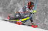 Leif Kristian Nestvold-Haugen of Norway skiing during first run of men slalom race of the Audi FIS Alpine skiing World cup Kitzbuehel, Austria. Men slalom Hahnenkamm race of the Audi FIS Alpine skiing World cup season 2018-2019 was held Kitzbuehel, Austria, on Saturday, 26th of January 2019.