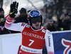 Fifth placed Matthias Mayer of Austria reacts in finish of the super-g race of the Audi FIS Alpine skiing World cup Kitzbuehel, Austria. Men super-g Hahnenkamm race of the Audi FIS Alpine skiing World cup season 2018-2019 was held Kitzbuehel, Austria, on Sunday, 27th of January 2019.