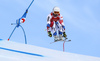 Adrien Theaux of France skiing during super-g race of the Audi FIS Alpine skiing World cup Kitzbuehel, Austria. Men super-g Hahnenkamm race of the Audi FIS Alpine skiing World cup season 2018-2019 was held Kitzbuehel, Austria, on Sunday, 27th of January 2019.