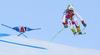 Thomas Tumler of Switzerland skiing during super-g race of the Audi FIS Alpine skiing World cup Kitzbuehel, Austria. Men super-g Hahnenkamm race of the Audi FIS Alpine skiing World cup season 2018-2019 was held Kitzbuehel, Austria, on Sunday, 27th of January 2019.