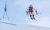 Vincent Kriechmayr of Austria skiing during super-g race of the Audi FIS Alpine skiing World cup Kitzbuehel, Austria. Men super-g Hahnenkamm race of the Audi FIS Alpine skiing World cup season 2018-2019 was held Kitzbuehel, Austria, on Sunday, 27th of January 2019.