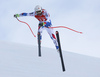 Brice Roger of France skiing during super-g race of the Audi FIS Alpine skiing World cup Kitzbuehel, Austria. Men super-g Hahnenkamm race of the Audi FIS Alpine skiing World cup season 2018-2019 was held Kitzbuehel, Austria, on Sunday, 27th of January 2019.