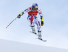 Alexis Pinturault of France skiing during super-g race of the Audi FIS Alpine skiing World cup Kitzbuehel, Austria. Men super-g Hahnenkamm race of the Audi FIS Alpine skiing World cup season 2018-2019 was held Kitzbuehel, Austria, on Sunday, 27th of January 2019.