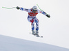 Johan Clarey of France skiing during super-g race of the Audi FIS Alpine skiing World cup Kitzbuehel, Austria. Men super-g Hahnenkamm race of the Audi FIS Alpine skiing World cup season 2018-2019 was held Kitzbuehel, Austria, on Sunday, 27th of January 2019.
