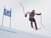 Thomas Biesemeyer of USA skiing during super-g race of the Audi FIS Alpine skiing World cup Kitzbuehel, Austria. Men super-g Hahnenkamm race of the Audi FIS Alpine skiing World cup season 2018-2019 was held Kitzbuehel, Austria, on Sunday, 27th of January 2019.