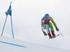 Klemen Kosi of Slovenia skiing during super-g race of the Audi FIS Alpine skiing World cup Kitzbuehel, Austria. Men super-g Hahnenkamm race of the Audi FIS Alpine skiing World cup season 2018-2019 was held Kitzbuehel, Austria, on Sunday, 27th of January 2019.