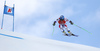 Nils Allegre of France skiing during super-g race of the Audi FIS Alpine skiing World cup Kitzbuehel, Austria. Men super-g Hahnenkamm race of the Audi FIS Alpine skiing World cup season 2018-2019 was held Kitzbuehel, Austria, on Sunday, 27th of January 2019.