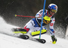 Alexis Pinturault of France skiing during the first run of the men slalom race of the Audi FIS Alpine skiing World cup in Kranjska Gora, Slovenia. Men slalom race of the Audi FIS Alpine skiing World cup season 2018-2019 was held on Podkoren course in Kranjska Gora, Slovenia, on Sunday, 10th of March 2019.