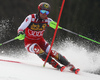 Marcel Hirscher of Austria skiing during the first run of the men slalom race of the Audi FIS Alpine skiing World cup in Kranjska Gora, Slovenia. Men slalom race of the Audi FIS Alpine skiing World cup season 2018-2019 was held on Podkoren course in Kranjska Gora, Slovenia, on Sunday, 10th of March 2019.