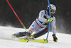 Manfred Moelgg of Italy skiing during the first run of the men slalom race of the Audi FIS Alpine skiing World cup in Kranjska Gora, Slovenia. Men slalom race of the Audi FIS Alpine skiing World cup season 2018-2019 was held on Podkoren course in Kranjska Gora, Slovenia, on Sunday, 10th of March 2019.