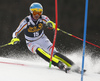 Felix Neureuther of Germany skiing during the first run of the men slalom race of the Audi FIS Alpine skiing World cup in Kranjska Gora, Slovenia. Men slalom race of the Audi FIS Alpine skiing World cup season 2018-2019 was held on Podkoren course in Kranjska Gora, Slovenia, on Sunday, 10th of March 2019.