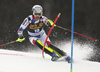 Julien Lizeroux of France skiing during the first run of the men slalom race of the Audi FIS Alpine skiing World cup in Kranjska Gora, Slovenia. Men slalom race of the Audi FIS Alpine skiing World cup season 2018-2019 was held on Podkoren course in Kranjska Gora, Slovenia, on Sunday, 10th of March 2019.