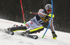 Dominik Stehle of Germany skiing during the first run of the men slalom race of the Audi FIS Alpine skiing World cup in Kranjska Gora, Slovenia. Men slalom race of the Audi FIS Alpine skiing World cup season 2018-2019 was held on Podkoren course in Kranjska Gora, Slovenia, on Sunday, 10th of March 2019.