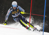 Jens Henttinen of Finland skiing during the first run of the men slalom race of the Audi FIS Alpine skiing World cup in Kranjska Gora, Slovenia. Men slalom race of the Audi FIS Alpine skiing World cup season 2018-2019 was held on Podkoren course in Kranjska Gora, Slovenia, on Sunday, 10th of March 2019.