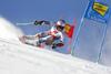Henrik Kristoffersen of Norway skiing during the first run of the men giant slalom race of the Audi FIS Alpine skiing World cup in Soelden, Austria. First race of men Audi FIS Alpine skiing World cup season 2019-2020, men giant slalom, was held on Rettenbach glacier above Soelden, Austria, on Sunday, 27th of October 2019.
