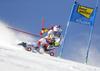 Marco Odermatt of Switzerland skiing during the first run of the men giant slalom race of the Audi FIS Alpine skiing World cup in Soelden, Austria. First race of men Audi FIS Alpine skiing World cup season 2019-2020, men giant slalom, was held on Rettenbach glacier above Soelden, Austria, on Sunday, 27th of October 2019.