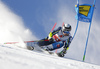 Matts Olsson of Sweden skiing during the first run of the men giant slalom race of the Audi FIS Alpine skiing World cup in Soelden, Austria. First race of men Audi FIS Alpine skiing World cup season 2019-2020, men giant slalom, was held on Rettenbach glacier above Soelden, Austria, on Sunday, 27th of October 2019.