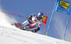 Alexis Pinturault of France skiing during the first run of the men giant slalom race of the Audi FIS Alpine skiing World cup in Soelden, Austria. First race of men Audi FIS Alpine skiing World cup season 2019-2020, men giant slalom, was held on Rettenbach glacier above Soelden, Austria, on Sunday, 27th of October 2019.
