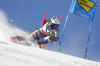 Rasmus Windingstad of Norway skiing during the first run of the men giant slalom race of the Audi FIS Alpine skiing World cup in Soelden, Austria. First race of men Audi FIS Alpine skiing World cup season 2019-2020, men giant slalom, was held on Rettenbach glacier above Soelden, Austria, on Sunday, 27th of October 2019.
