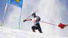 Filip Zubcic of Croatia skiing during the first run of the men giant slalom race of the Audi FIS Alpine skiing World cup in Soelden, Austria. First race of men Audi FIS Alpine skiing World cup season 2019-2020, men giant slalom, was held on Rettenbach glacier above Soelden, Austria, on Sunday, 27th of October 2019.