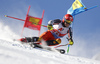 Erik Read of Canada skiing during the first run of the men giant slalom race of the Audi FIS Alpine skiing World cup in Soelden, Austria. First race of men Audi FIS Alpine skiing World cup season 2019-2020, men giant slalom, was held on Rettenbach glacier above Soelden, Austria, on Sunday, 27th of October 2019.
