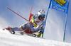 Aleksander Aamodt Kilde of NorwayElia Zurbriggen of Switzerland skiing during the first run of the men giant slalom race of the Audi FIS Alpine skiing World cup in Soelden, Austria. First race of men Audi FIS Alpine skiing World cup season 2019-2020, men giant slalom, was held on Rettenbach glacier above Soelden, Austria, on Sunday, 27th of October 2019.