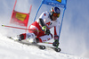 Matthias Mayer of Austria skiing during the first run of the men giant slalom race of the Audi FIS Alpine skiing World cup in Soelden, Austria. First race of men Audi FIS Alpine skiing World cup season 2019-2020, men giant slalom, was held on Rettenbach glacier above Soelden, Austria, on Sunday, 27th of October 2019.