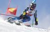Mattias Roenngren of Sweden skiing during the first run of the men giant slalom race of the Audi FIS Alpine skiing World cup in Soelden, Austria. First race of men Audi FIS Alpine skiing World cup season 2019-2020, men giant slalom, was held on Rettenbach glacier above Soelden, Austria, on Sunday, 27th of October 2019.