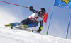 Kristoffer Jakobsen of Sweden skiing during the first run of the men giant slalom race of the Audi FIS Alpine skiing World cup in Soelden, Austria. First race of men Audi FIS Alpine skiing World cup season 2019-2020, men giant slalom, was held on Rettenbach glacier above Soelden, Austria, on Sunday, 27th of October 2019.