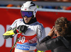 Lucas Braathen of Norway reacts in finish of the second run of the men giant slalom race of the Audi FIS Alpine skiing World cup in Soelden, Austria. First race of men Audi FIS Alpine skiing World cup season 2019-2020, men giant slalom, was held on Rettenbach glacier above Soelden, Austria, on Sunday, 27th of October 2019.