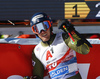 Ted Ligety of USA reacts in finish of the second run of the men giant slalom race of the Audi FIS Alpine skiing World cup in Soelden, Austria. First race of men Audi FIS Alpine skiing World cup season 2019-2020, men giant slalom, was held on Rettenbach glacier above Soelden, Austria, on Sunday, 27th of October 2019.