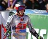 Henrik Kristoffersen of Norway in finish of the second run of the men giant slalom race of the Audi FIS Alpine skiing World cup in Soelden, Austria. First race of men Audi FIS Alpine skiing World cup season 2019-2020, men giant slalom, was held on Rettenbach glacier above Soelden, Austria, on Sunday, 27th of October 2019.