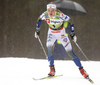 Linn Svahn of Sweden skiing during qualifications in women sprint race of FIS Cross country skiing World Cup in Planica, Slovenia. Qualifications for women sprint finals of FIS Cross country skiing World Cup in Planica, Slovenia were held on Saturday, 21st of December 2019 in Planica, Slovenia.