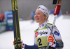 winner Jonna Sundling of Sweden celebrating in finish of the sprint race of FIS Cross country skiing World Cup in Planica, Slovenia. Finals of women sprint finals of FIS Cross country skiing World Cup in Planica, Slovenia were held on Saturday, 21st of December 2019 in Planica, Slovenia.