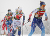 Maja Dahlqvist of Sweden skiing in finals of women team sprint race of FIS Cross country skiing World Cup in Planica, Slovenia. Finals of women team sprint finals of FIS Cross country skiing World Cup in Planica, Slovenia were held on Sunday, 22nd of December 2019 in Planica, Slovenia.