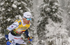 Oskar Svensson of Sweden  skiing in finals of men team sprint race of FIS Cross country skiing World Cup in Planica, Slovenia. Finals of men team sprint finals of FIS Cross country skiing World Cup in Planica, Slovenia were held on Sunday, 22nd of December 2019 in Planica, Slovenia.