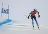 Mattias Roenngren of Sweden skiing during men super-g race of the Audi FIS Alpine skiing World cup in Kitzbuehel, Austria. Men super-g race of Audi FIS Alpine skiing World cup 2019-2020, was held on Streif in Kitzbuehel, Austria, on Friday, 24th of January 2020.