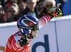 Second placed Matthias Mayer of Austria reacts in finish of the men super-g race of the Audi FIS Alpine skiing World cup in Kitzbuehel, Austria. Men super-g race of Audi FIS Alpine skiing World cup 2019-2020, was held on Streif in Kitzbuehel, Austria, on Friday, 24th of January 2020.