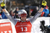 Second placed Aleksander Aamodt Kilde of Norway reacts in finish of the men super-g race of the Audi FIS Alpine skiing World cup in Kitzbuehel, Austria. Men super-g race of Audi FIS Alpine skiing World cup 2019-2020, was held on Streif in Kitzbuehel, Austria, on Friday, 24th of January 2020.