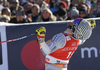 Winner Kjetil Jansrud of Norway reacts in finish of the men super-g race of the Audi FIS Alpine skiing World cup in Kitzbuehel, Austria. Men super-g race of Audi FIS Alpine skiing World cup 2019-2020, was held on Streif in Kitzbuehel, Austria, on Friday, 24th of January 2020.