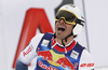 Fourth placed Johan Clarey of France reacts in finish of the men downhill race of the Audi FIS Alpine skiing World cup in Kitzbuehel, Austria. Men downhill race of Audi FIS Alpine skiing World cup 2019-2020, was held on Streif in Kitzbuehel, Austria, on Saturday, 25th of January 2020.