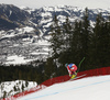 Vincent Kriechmayr of Austria skiing during men downhill race of the Audi FIS Alpine skiing World cup in Kitzbuehel, Austria. Men downhill race of Audi FIS Alpine skiing World cup 2019-2020, was held on Streif in Kitzbuehel, Austria, on Saturday, 25th of January 2020.